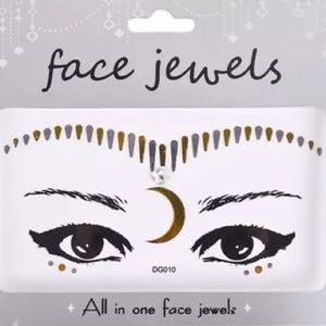Other - Metallic tattoo face eye makeup festival outfit
